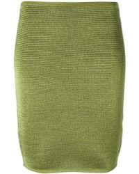 Alexander Wang Woven Pencil Skirt - Lyst