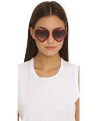 Markus Lupfer - Heart Sunglasses - Red/grey - Lyst