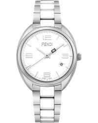 Fendi Momento Ceramic & Stainless Steel Bracelet Watch silver - Lyst