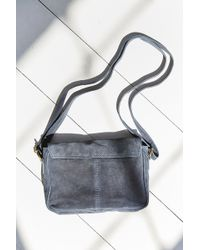 Ecote - Perforated Suede Messenger Bag - Lyst