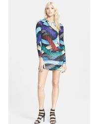 Christopher Kane Print Silk Dress - Lyst