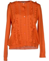 Miu Miu Orange Cardigan - Lyst