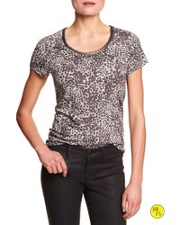 Banana Republic Factory Print Luxe-Touch Top - Lyst