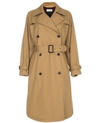 Paul Smith Women's Camel Trench Coat With Checked Wool Lining - Natural