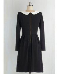 Sunny Girl Pty Lltd - Record Store Date Dress In Black - Lyst