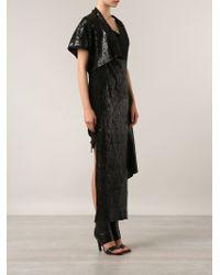 Alessandra Marchi - Asymmetric Long Dress - Lyst