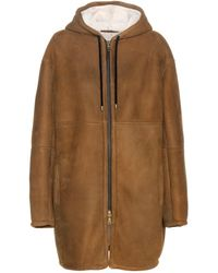 Inès & Maréchal Shearling-lined Suede Coat - Brown