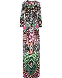 Temperley London Miri Printed Silk Gown - Lyst
