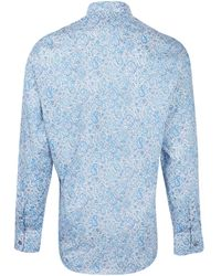 Liberty - Blue Charles Paisley Cotton Shirt - Lyst