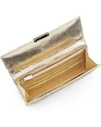 Jimmy Choo Reese Metallic Leather Continental Wallet - Lyst
