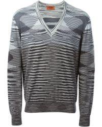 Missoni Striped Pattern Sweater - Lyst