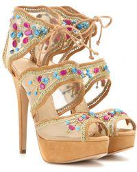 Charlotte Olympia Arizona Embellished Sandals - Lyst