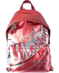 Moschino Leather Backpack Cola Print red - Lyst