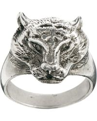 Love Bullets - Skool Ov Jenius By Lovebullets Panther Ring in Sterling Silver - Lyst