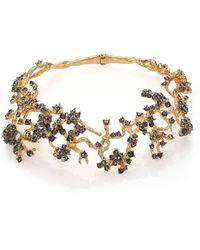 Alexander McQueen Cherry Blossom Choker Necklace red - Lyst