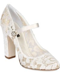 Dolce & Gabbana 105mm Mary Jane Lace Pumps - Lyst