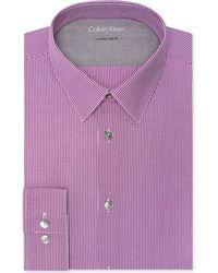 Calvin Klein X Extra-Slim Gingham Dress Shirt - Lyst