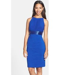 JS Boutique - Beaded Waist Ruched Dress - Lyst