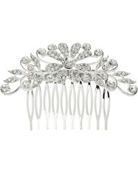 Mikey - Cubic Multi Flowers Spread Hair Comb - Lyst