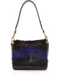 Deadly Ponies Mr Nebula Fur Messenger Bag Cobalt - Lyst