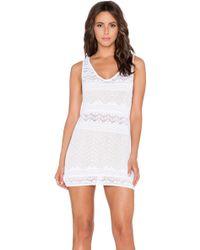 Goddis Jasper Mini Dress white - Lyst