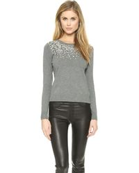 Milly Degrade Pullover - Heather Grey - Lyst