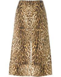 Chloé   Leopard Print Skirt   Lyst