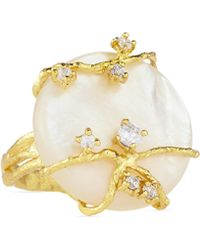 Indulgems - Mother-of-pearl Vine Ring - Lyst