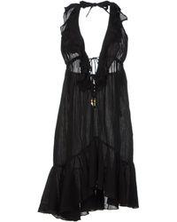 Ralph Lauren Black Short Dress - Lyst