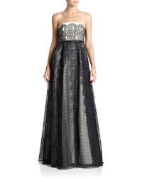 Sachin & Babi Noir Strapless Gown - Lyst