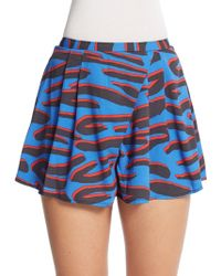 The Fifth Label Sun And Moon Printed Shorts - Blue