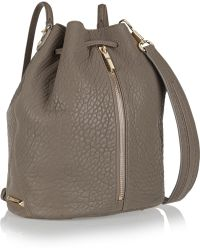 Elizabeth and James - Cynnie Sling Convertible Textured-leather Shoulder Bag - Lyst
