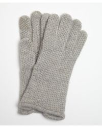 Portolano Heather Grey Cashmere Honeycomb Knit Itouch Gloves - Lyst