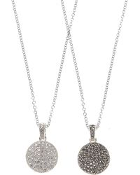 Judith Jack - Two Sided Marcasite Disc Necklace - Lyst