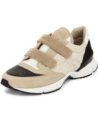 Brunello Cucinelli Monili Grip-strap Leather Trainers