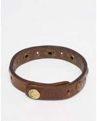 DIESEL | Bracelet With Studded Detail | Lyst