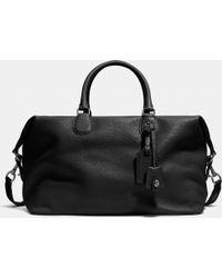 COACH Explorer Bag In Pebble Leather - Black