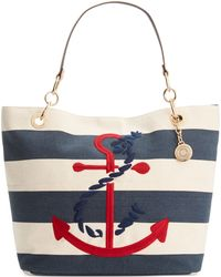 Tommy Hilfiger Th Signature Embroidered Anchor Rugby Canvas Tote - Lyst