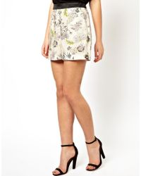 Asos Shorts in Floral Print with Contrast Waistband - Lyst