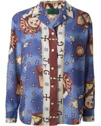 Jean Paul Gaultier Horoscope Print Shirt - Lyst