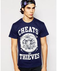 Cheats & Thieves T-shirt Live And Die - Blue