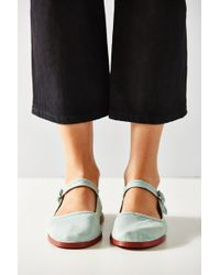 Urban Outfitters - Cotton Mary Jane Flat - Lyst
