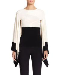 Alexander McQueen Wave Jacquard Kimono Sweater - Lyst