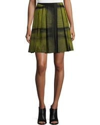 Risto - Pleated Two-tone Skirt - Lyst