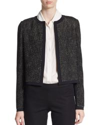 Elie Tahari Pearson Tweed Jacket - Lyst