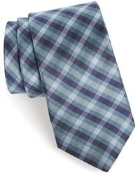 Michael Kors 'Watermark Plaid' Woven Silk Tie - Lyst