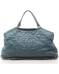 Chanel Preowned Iridescent Sea Hit Large Shopping Tote - Lyst