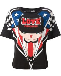 Love Moschino Race Print T-Shirt - Lyst