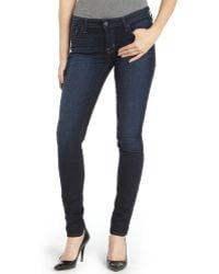Textile Elizabeth and James Sadi Wash Stretch Cotton 'Debbie' Skinny Jeans blue - Lyst