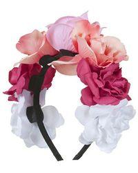 Topshop Rose Flower Headband - Lyst